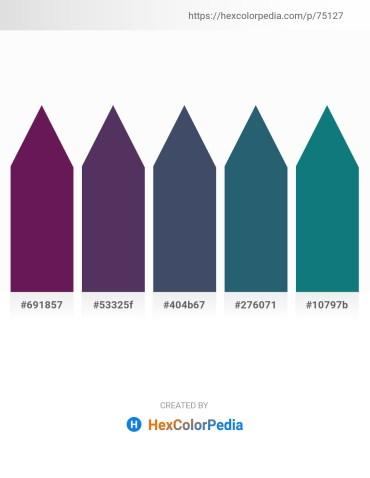 Palette image download - Blue Violet – Dark Slate Blue – Dark Slate Gray – Midnight Blue – Teal