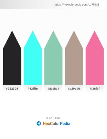 Palette image download - Dark Slate Gray – Aqua – Medium Aquamarine – Rosy Brown – Light Coral