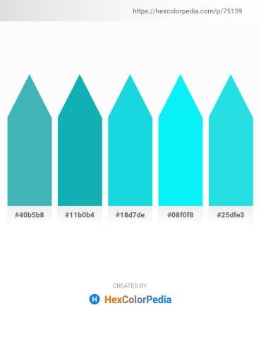 Palette image download - Medium Turquoise – Light Sea Green – Turquoise – Aqua – Turquoise
