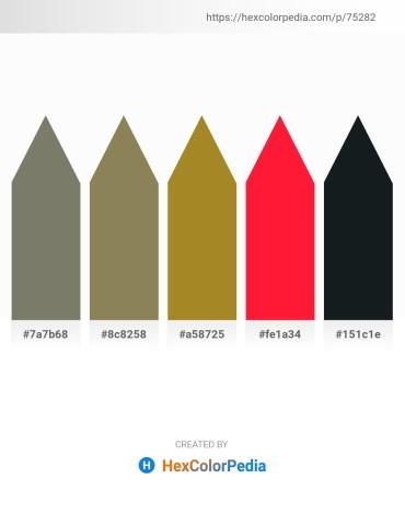 Palette image download - Dim Gray – Dark Khaki – Slate Gray – Red – Dark Slate Gray