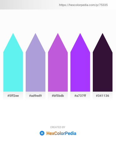 Palette image download - Turquoise – Light Steel Blue – Medium Orchid – Dark Violet – Midnight Blue