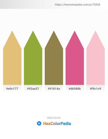 Palette image download - Burlywood – Yellow Green – Dark Olive Green – Pale Violet Red – Pink