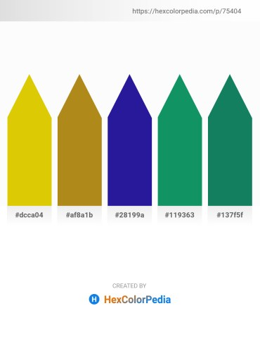 Palette image download - Gold – Navajo White – Midnight Blue – Teal – Forest Green
