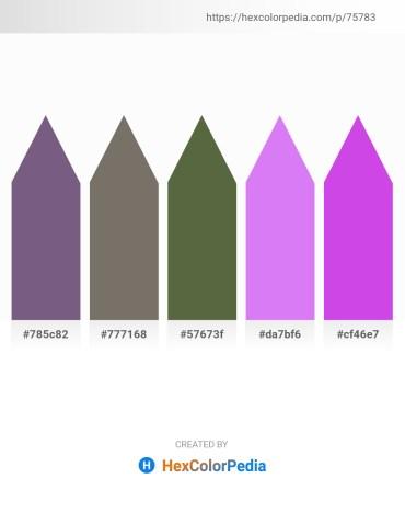 Palette image download - Dim Gray – Dim Gray – Dark Olive Green – Medium Slate Blue – Medium Orchid