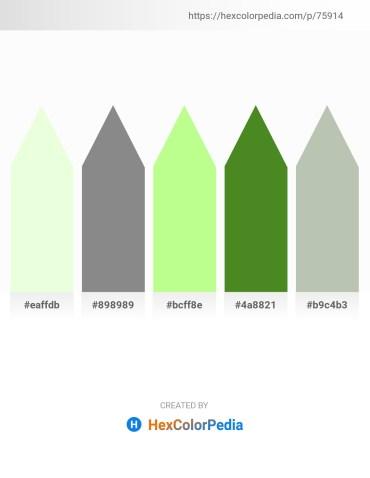 Palette image download - Honeydew – Gray – Pale Green – Olive Drab – Dark Sea Green