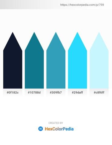 Palette image download - Midnight Blue – Dark Cyan – Light Sea Green – Deep Sky Blue – Light Cyan