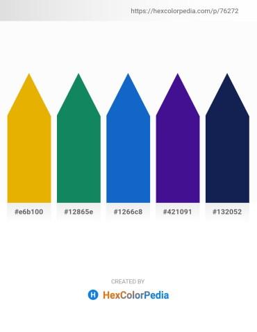 Palette image download - Orange – Forest Green – Royal Blue – Indigo – Midnight Blue