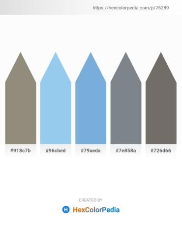 Palette image download - Gray – Sky Blue – Sky Blue – Slate Gray – Dim Gray