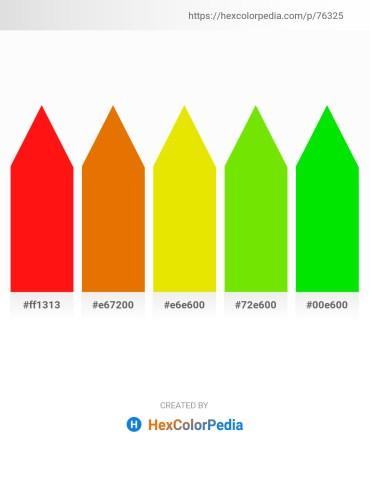 Palette image download - Red – Dark Orange – Gold – Lawn Green – Black