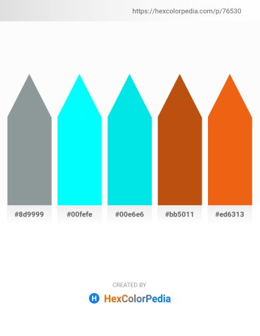 Palette image download - Light Slate Gray – Aqua – Dark Turquoise – Chocolate – Chocolate