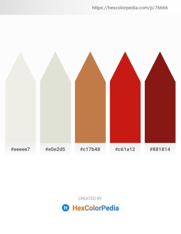 Palette image download - White Smoke – Gainsboro – Peru – Crimson – Saddle Brown