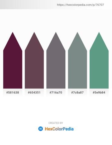Palette image download - Blue Violet – Dim Gray – Dim Gray – Slate Gray – Cadet Blue