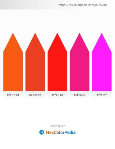 Palette image download - Orange Red – Crimson – Red – Deep Pink – Magenta