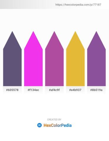 Palette image download - Dim Gray – Magenta – Dark Olive Green – Goldenrod – Dark Slate Blue