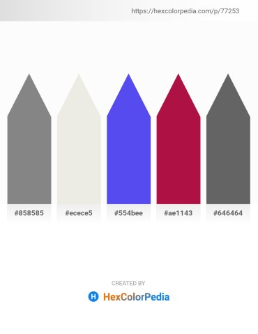 Palette image download - Gray – White Smoke – Medium Slate Blue – Crimson – Dim Gray