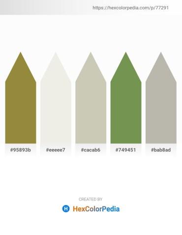 Palette image download - Gray – White Smoke – Silver – Dark Olive Green – Dark Gray