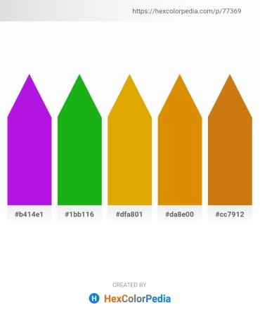 Palette image download - Blue Violet – Forest Green – Orange – Dark Orange – Dark Goldenrod