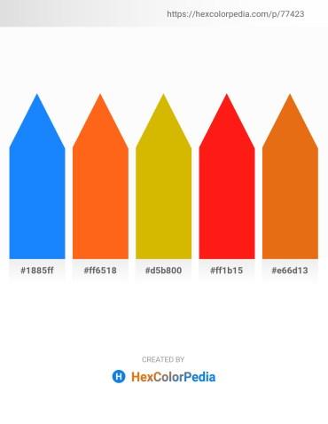 Palette image download - Dodger Blue – Orange Red – Orange – Red – Chocolate