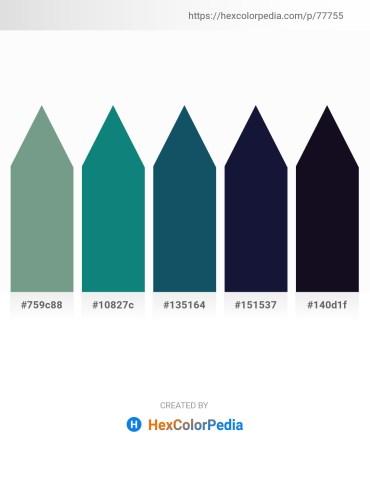 Palette image download - Cadet Blue – Teal – Light Slate Gray – Midnight Blue – Midnight Blue