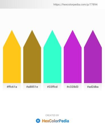 Palette image download - Gold – Coral – Aqua – Dark Orchid – Dark Orchid