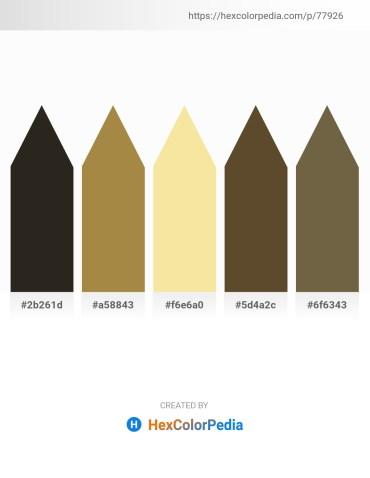 Palette image download - Black – Peru – Wheat – Dark Olive Green – Dark Olive Green