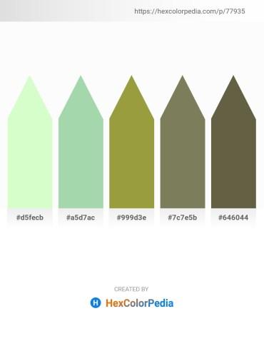 Palette image download - Honeydew – Dark Sea Green – Dark Khaki – Dim Gray – Dark Olive Green