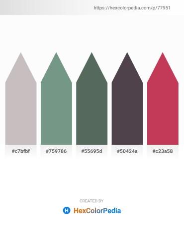 Palette image download - Silver – Cadet Blue – Dark Slate Gray – Dim Gray – Indian Red