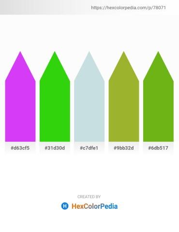 Palette image download - Blue Violet – Lime – Light Steel Blue – Yellow Green – Olive Drab