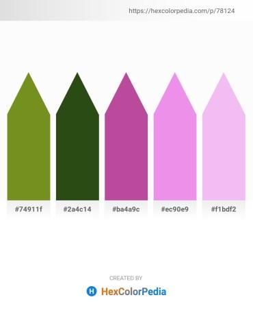 Palette image download - Olive Drab – Dark Olive Green – Teal – Violet – Lavender