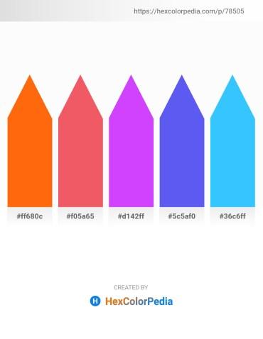Palette image download - Orange Red – Light Coral – Blue Violet – Medium Slate Blue – Dodger Blue