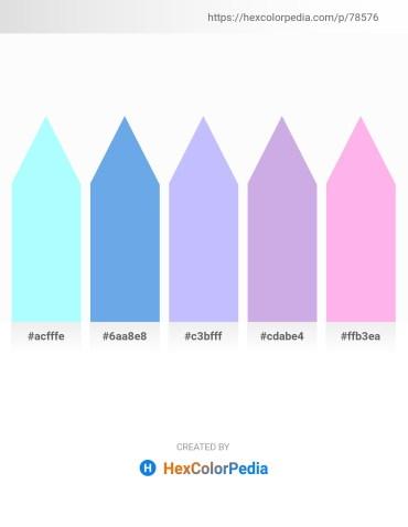 Palette image download - Light Cyan – Cornflower Blue – Medium Sea Green – Light Steel Blue – Pink