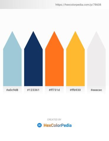 Palette image download - Light Steel Blue – Midnight Blue – Dark Orange – Orange – White Smoke