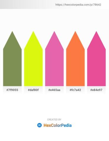 Palette image download - Dark Olive Green – Yellow – Pale Violet Red – Coral – Pale Violet Red