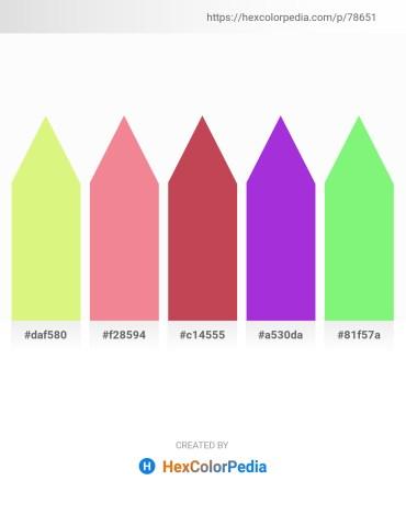 Palette image download - Khaki – Light Coral – Indian Red – Blue Violet – Pale Green