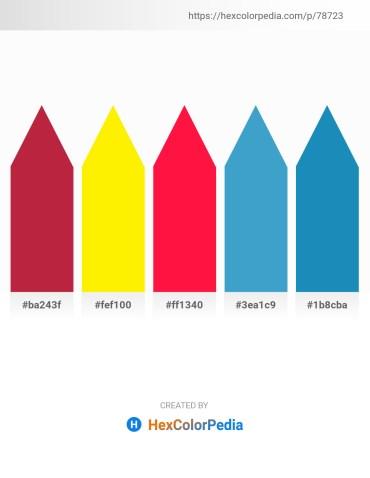 Palette image download - Firebrick – Yellow – Red – Gray – Dark Khaki