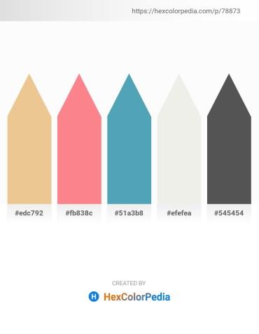 Palette image download - Khaki – Salmon – Steel Blue – White Smoke – Dim Gray