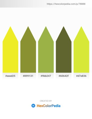 Palette image download - Yellow – Olive Drab – Dark Khaki – Dark Olive Green – Thistle
