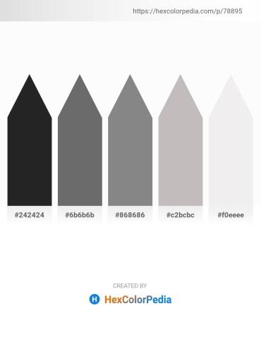Palette image download - Black – Dim Gray – Gray – Silver – White Smoke
