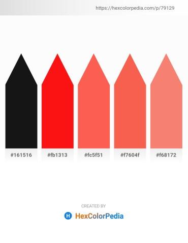 Palette image download - Black – Red – Tomato – Tomato – Salmon