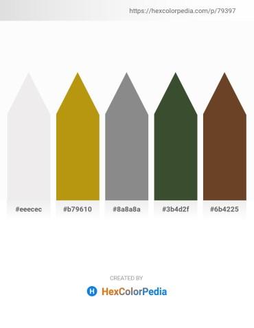 Palette image download - White Smoke – Dark Goldenrod – Gray – Dark Olive Green – Sienna