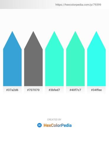 Palette image download - Olive Drab – Dim Gray – Aqua – Turquoise – Aqua