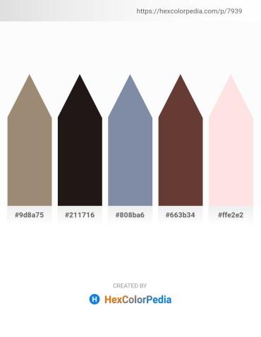 Palette image download - Rosy Brown – Black – Light Slate Gray – Black – Misty Rose