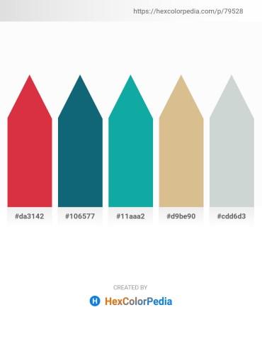 Palette image download - Crimson – Teal – Light Sea Green – Tan – Light Steel Blue