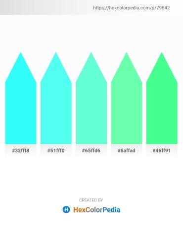 Palette image download - Aqua – Aquamarine – Aquamarine – Aquamarine – Spring Green