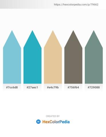 Palette image download - Dark Sea Green – Light Sea Green – Burlywood – Dim Gray – Slate Gray