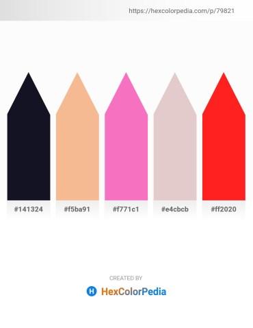 Palette image download - Black – Dark Goldenrod – Hot Pink – Thistle – Red