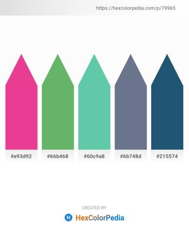Palette image download - Medium Violet Red – Dark Sea Green – Medium Aquamarine – Slate Gray – Blue