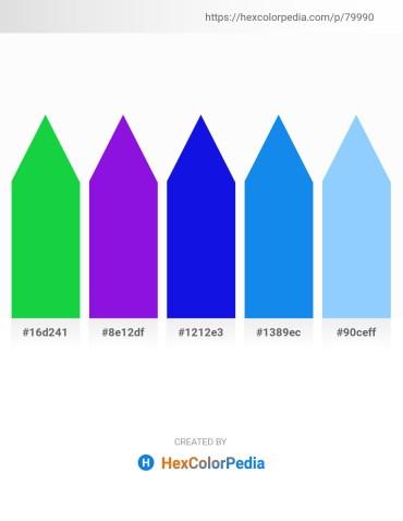 Palette image download - Lime Green – Blue Violet – Blue – Dodger Blue – Light Sky Blue