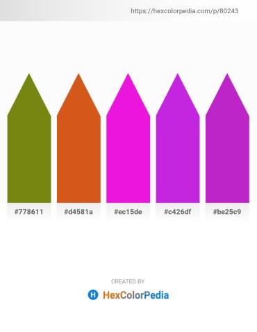 Palette image download - Olive Drab – Chocolate – Magenta – Blue Violet – Dark Orchid