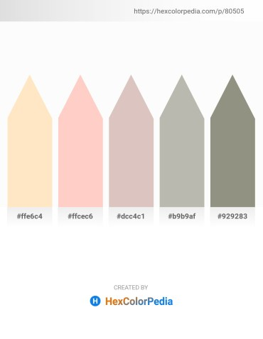 Palette image download - Bisque – Pink – Thistle – Silver – Gray